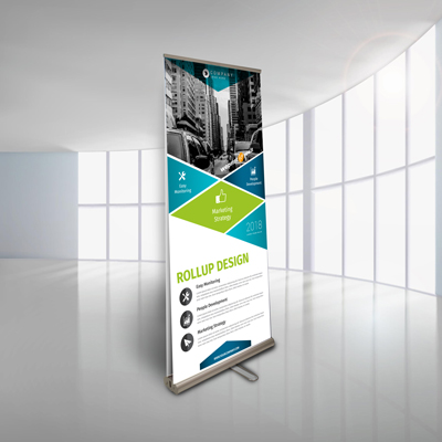 Roll-up bifacciale banner 80x200