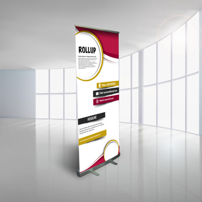 Roll-up monofacciale carta 80x200